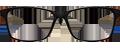 Black front/Grey sides Plastic frame + TINT INCLUDED, MODEL: DOM233 SIZE: 55-17