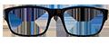Kids Black and Aqua Plastic frames (SPRING SIDES) + TINT INCLUDED, MODEL: JMPS554, SIZE: 46-17