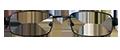 Black Stylish Metal frames (SPRING SIDES) + TINT INCLUDED, MODEL: LZR4040, SIZE: 46-18