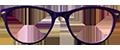 Blue/Pink plastic frames (SPRING SIDES) + TINT INCLUDED, MODEL: KZ106 SIZE: 45-15