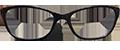 WOMENS Black Plastic Paul Costelloe DESIGNER frames + TINT INCLUDED, SIZE: 52-17