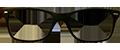 Matte Black plastic frame + TINT INCLUDED, MODEL: PLT47, SIZE 50-17