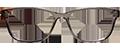 Grey plastic frame with Havana sides (SPRING SIDES) + TINT INCLUDED, MODEL: PLT+08 C3, SIZE: 50-17