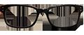 Black Plastic DESIGNER frames (SPRING SIDES) + TINT INCLUDED, MODEL: RTRO 265 C3, SIZE: 50-17