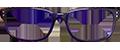 Purple Plastic DESIGNER frames (  SPRING SIDES)+ TINT INCLUDED, MODEL: RTRO665 C2 SIZE : 50-17