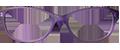 Purple Matte Plastic frames (SPRING SIDES) + TINT INCLUDED, MODEL: WK INCA C3, SIZE: 47-15