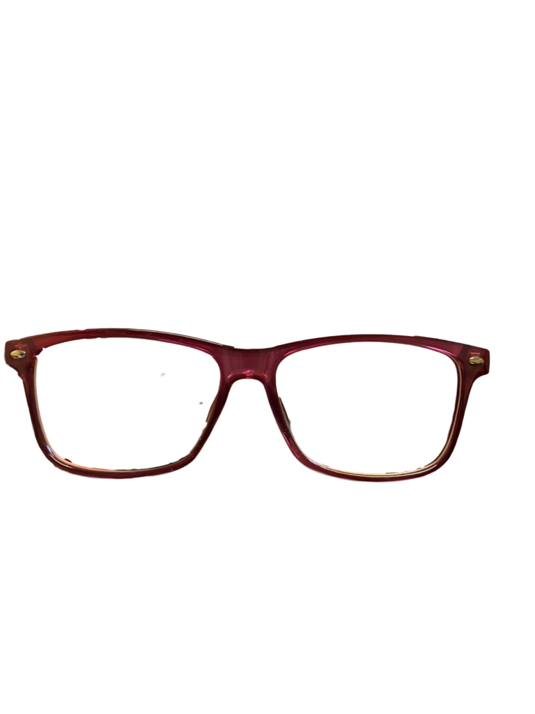 Maroon/Pink plastic frame + TINT INCLUDED, MODEL: PLT51 SIZE: 52-14