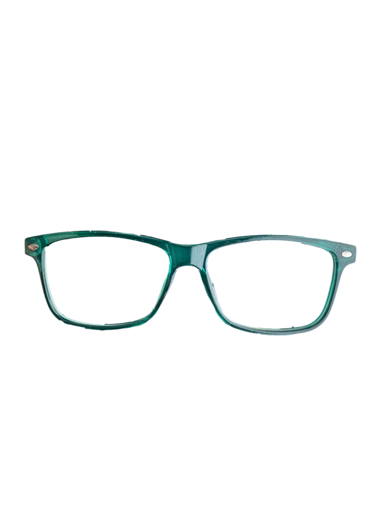 Green plastic frame + TINT INCLUDED, MODEL: PLT51 SIZE: 52-14
