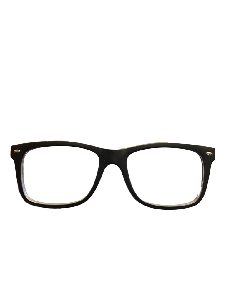Black/Red plastic frames + TINT INCLUDED, MODEL: DOM230 SIZE: 50-18