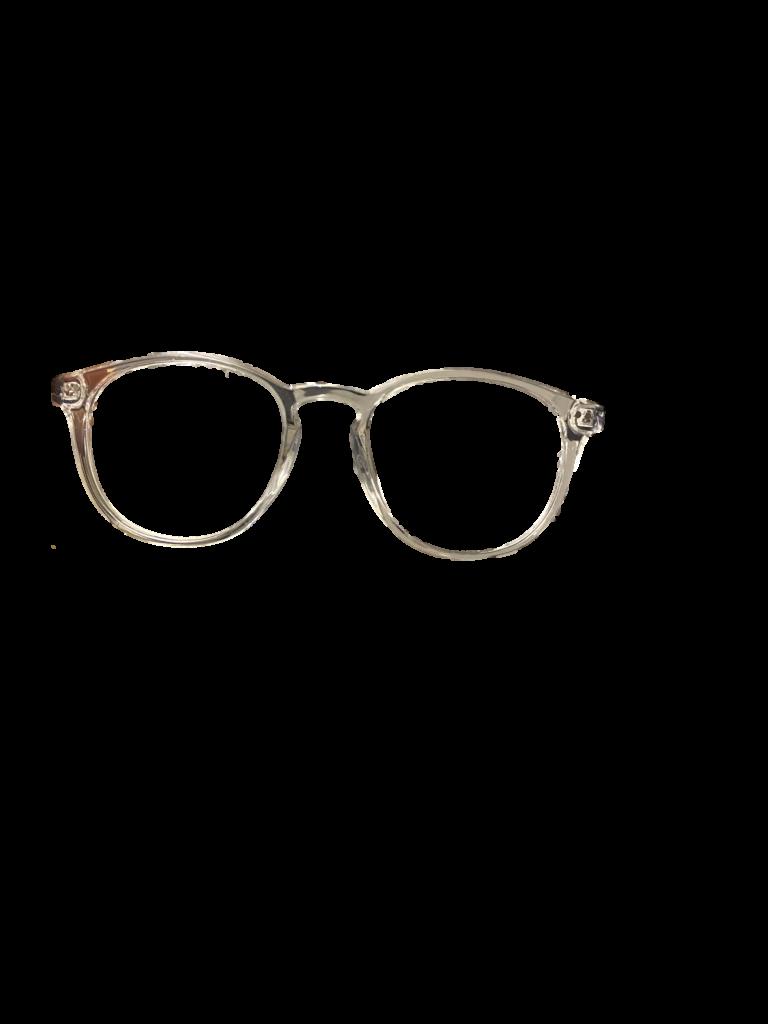 Crystal white plastic frame, black sides + TINT INCLUDED, MODEL: PLT52 AD SIZE: 52-21