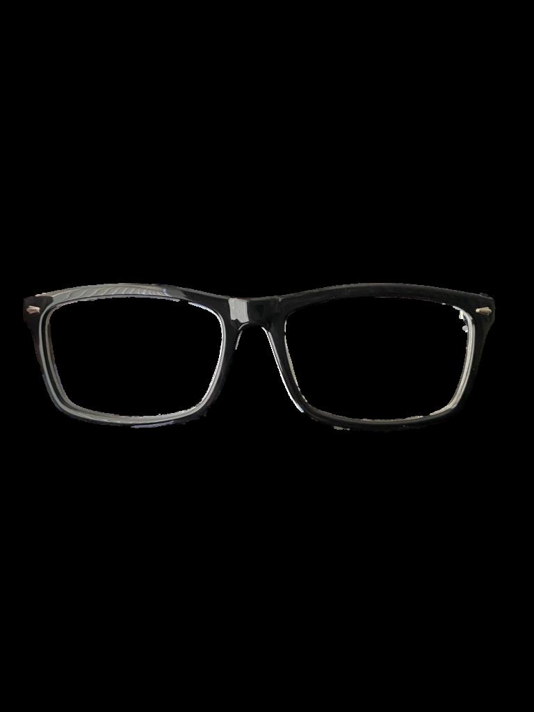 Black Plastic DESIGNER frame + TINT INCLUDED, Size: 53-16  Model: Comp 2 Mod 10