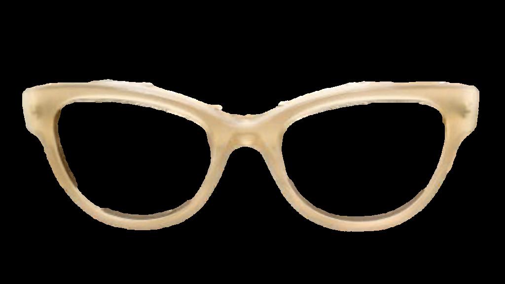 Cream Plastic DESIGNER frame + TINT INCLUDED, Size: 52-18  Model: Joseph Germain