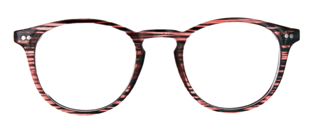 Maroon Red Crystal plastic frames  + TINT INCLUDED, MODEL: PLT 52, SIZE: 47-21