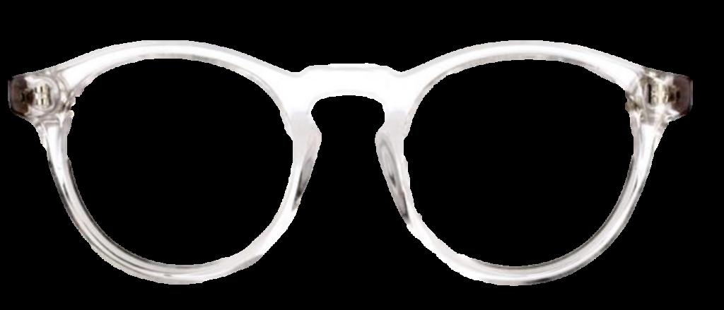 Crystal White plastic frames + TINT INCLUDED, MODEL: JMP616, SIZE: 46-17