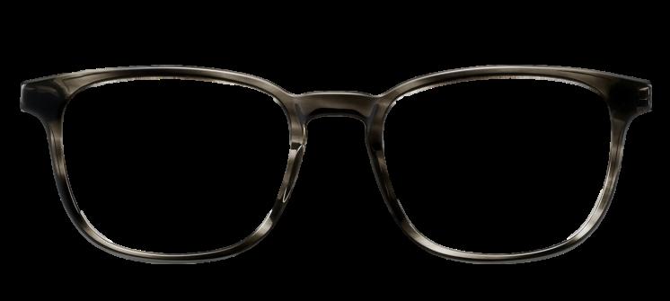 Crystal Dark Grey DESIGNER frame (SPRING SIDES) + TINT INCLUDED, Size: 52-19  Model: Buratto 03 PZH