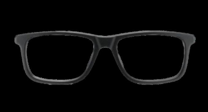 Black plastic DESIGNER frame (SPRING SIDES) + TINT INCLUDED, Size: 55-17 Model: Lastra 06 003