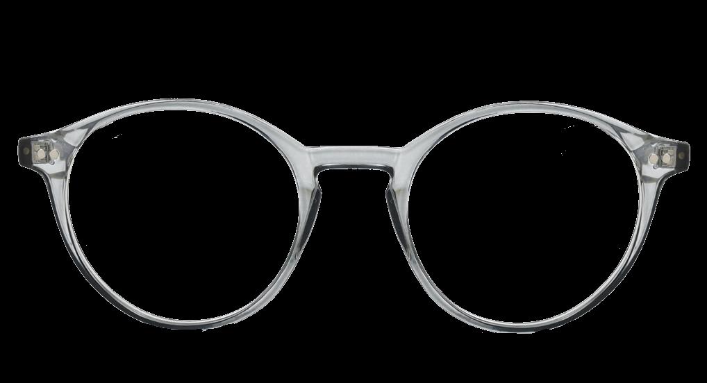 Crystal Grey plastic frames (SPRING SIDES), black sides  + TINT INCLUDED, MODEL: DOM243, SIZE: 49-20