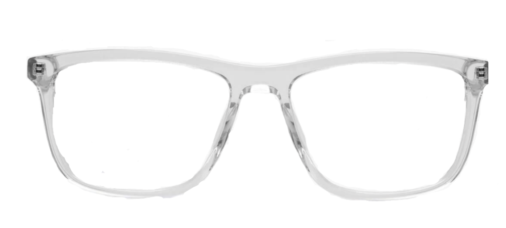 Crystal plastic frame with black sides + TINT INCLUDED  MODEL: PLT+03  SIZE: 52-14